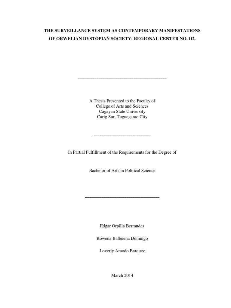 Dissertations on cctv