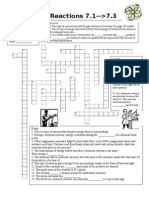 Ch 7-1-3Chemical Reactions Cross Word