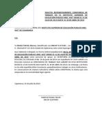 Solicita de Manera Reiterativa La Constancia de Trabajo Que Labore en Esa Institución de Julio de 2013 Hasta Abril de 2014