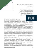 Badiou Alain La Ruptura Del Vinculo en Politica 1998