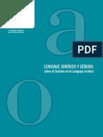 20131129 Libro Completo Lenguaje Jurídico y de Género
