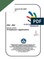 Kisi-kisi IT-Software Application LKS SMK 2014