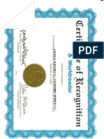 World Reader Certificate to knls