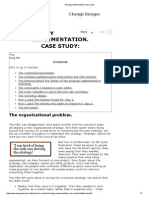 Strategy Implementation Case Study