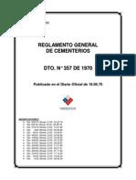 Reglamento General de Cementerios