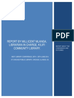 Next Library Conference Report 2014 - by Millicent Mlanga