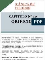 TEMA N° 10 ORIFICIOS