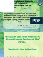 Presentación PESDA 2012 Costo de Viaje Zonal - Copia