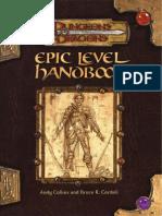 D&D 3.5 - Epic Level Handbook