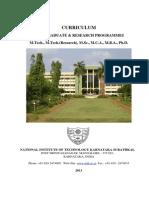 NITK PG R Curriculum 2013