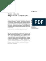 Centro Educativo Organización o Comunidad