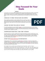 5 Ways to Sty Focussed