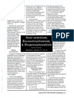 1996 Issue 2 - Anti-Semitism, Reconstructionism, And Dispensationalism - Counsel of Chalcedon