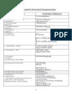 Tablica Cvjetnih Formula Kritosjemenjača