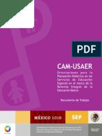 CAM-USAER. Orientaciones Planeacion. SEP-AFSEDF