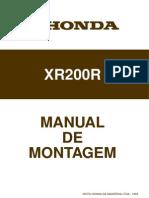 Honda Xr200r Manual de Montagem