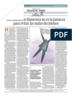 Educación Financiera No Es La Panacea Para Malas Decisiones_El Comercio 6-08-2014