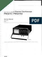 Manual de Servicio Osciloscopio Pm3215