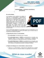 Tema 4. No Conformidades - Acciones Correctivas y Preventivas