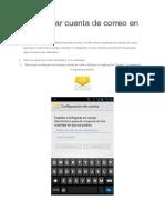Configurar Cuenta de Correo en Android