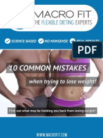 10 Common Mistakes of Weight Loss