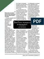 1997 Issue 2 - John Calvin