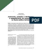 Autonomia, Opressão e Identidades