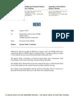 Memo - Chiefs' Interim Committee Eng