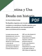 Argentina y Una Deuda con Historia