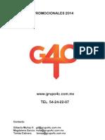 G4C, Articulos Promocionales (Catálogo 2)
