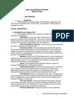 Rent Adjustment Program Regulations