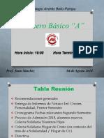 Reunión Lunes 04 Agosto 2014