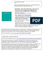 Almeida, Silva, Mendes & Oom - The Effects of Marketing Communication on the Tourist's Hotel Reservation Process