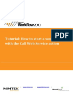 How to Start a Workflow With the Call Web Service Action