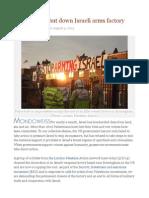UK Activists Shut Down Israeli Arms Factory