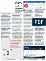 Pharmacy Daily for Thu 07 Aug 2014 - Concierge pharmacy, NPS on anticoagulants, Letter to the Editor, PPA supports interns and much more