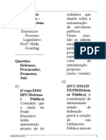 Defensoria Pública - Constitucional II - Exercícios Processo Legislativo - Hilda Goseling
