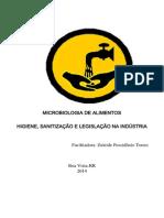 Higiene, Sanitização e Legislação Microbiologia de Alimentos