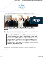 Kenneth Copeland Reports in About His Meeting With Pope Francis-27.06.14