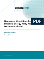 Necessary conditions for an effective energy-only market in Western Australia
