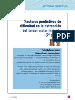 factores predictivos en la dificultad de extraccion de terceros molares