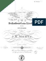 Six Schubert Lieder arr by J. K. Mertz