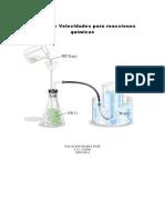Método de Velocidades Para Reacciones Químicas