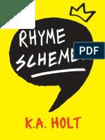 Rhyme Schemer (excerpt) by K.A. Holt