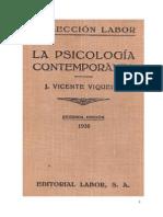 La Psicología Contemporanea - Viqueira