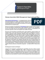 Dyman Associates Risk Management Approach and Plan