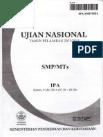 NASKAH SOAL UN (Ujian Nasional) IPA SMP TH 2014 PAKET 07