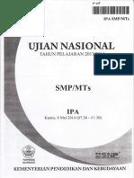 NASKAH SOAL UN (Ujian Nasional) IPA SMP TH 2014 PAKET 08