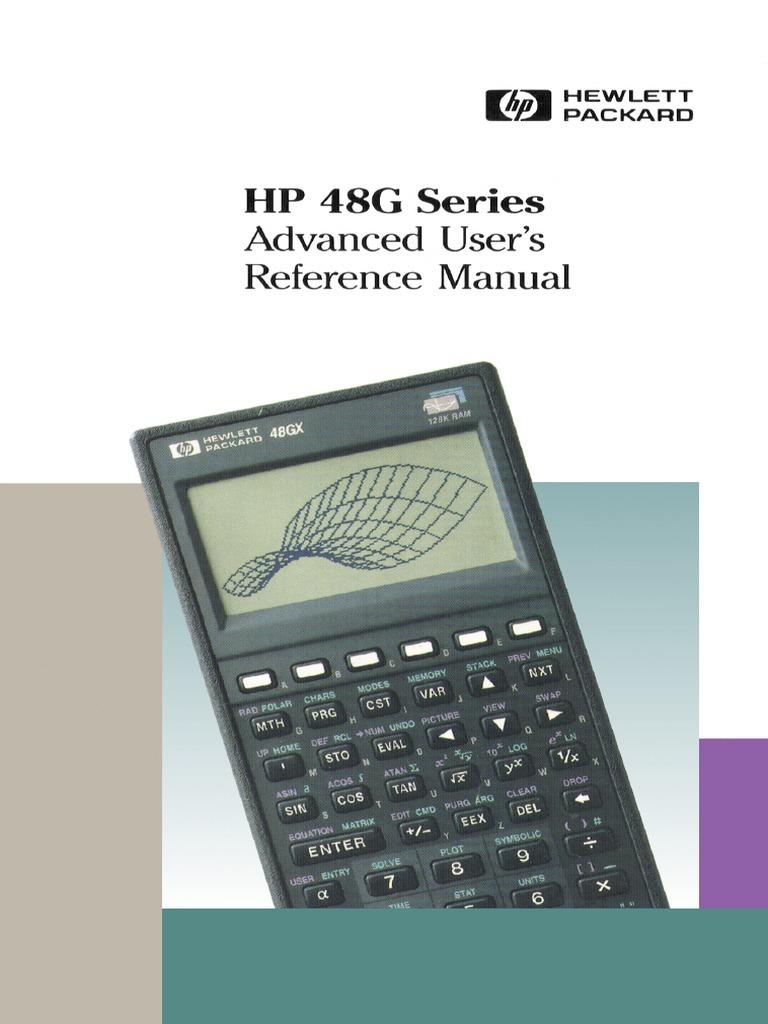 hp 48g series advanced user s reference manual 4e 1994 rh scribd com HP 48 Survey Programs Hp48 Calculator Repair