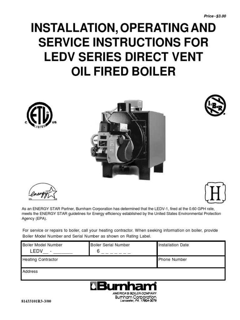Burnham Ledv Oil Boiler Om Hvac Leak Gas Wiring Diagrams